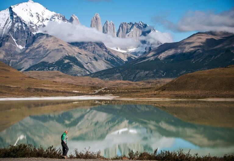 Montañas de las Torres del Paine en el Parque Nacional de la Patagonia chilena el 26 de febrero de 2016