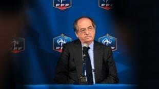 Noël Le Graët, président de la Fédération française de football (FFF) le 28 mai 2016 à Tours