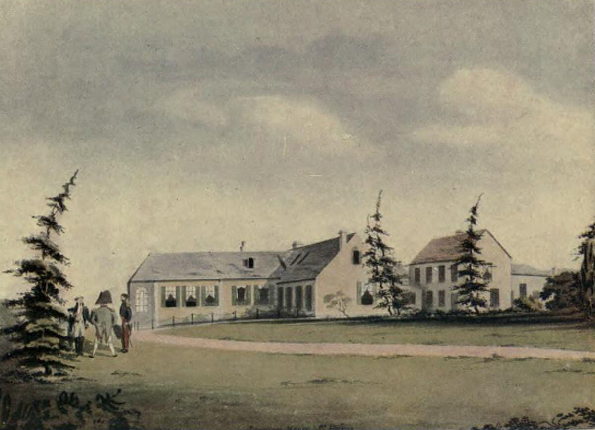 A painting of Longwood in 1817 by Basil Jackson