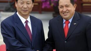 查韋斯與習近平2008年4月北京.