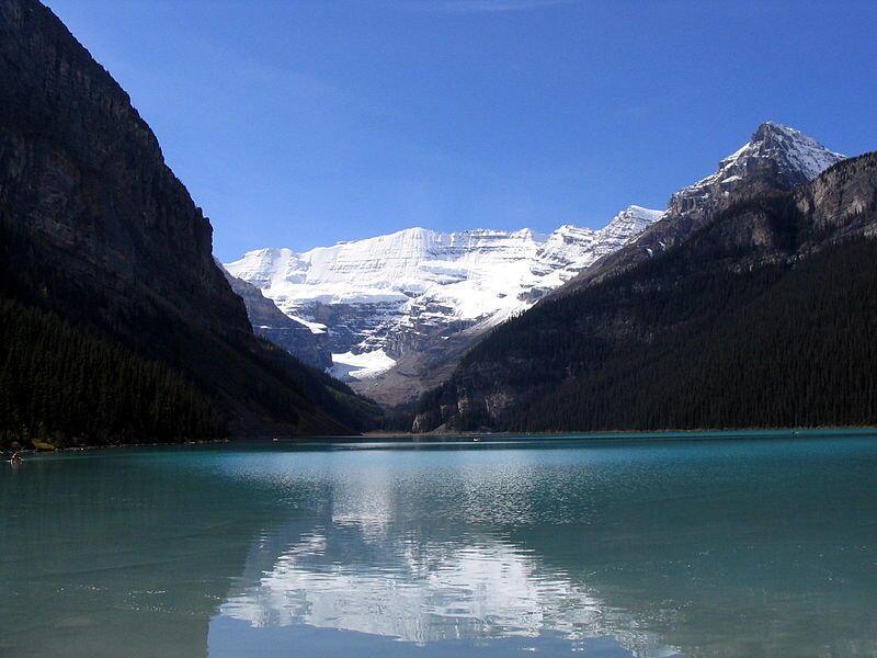 Le lac Louise dans le parc national de Banff, en Alberta au Canada.