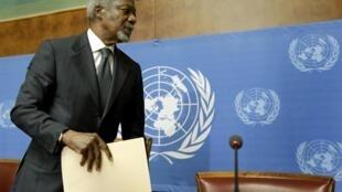 Kofi Annan vai deixar a missão no final do mês.