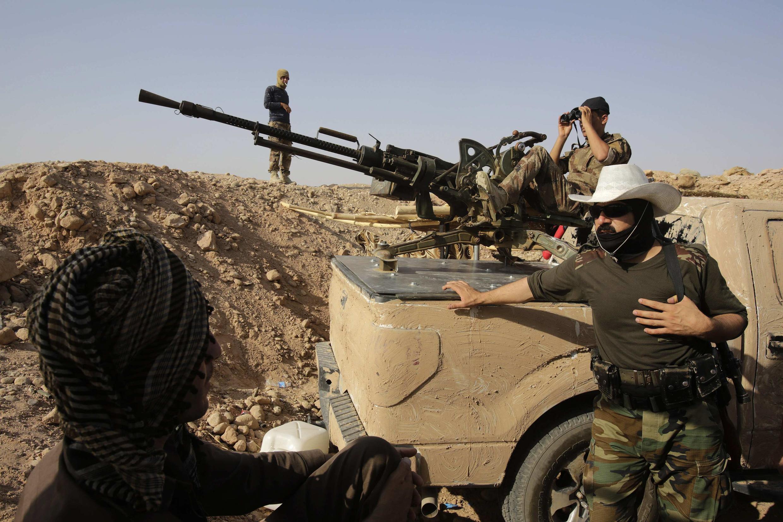 Combattants peshmergas en Irak.