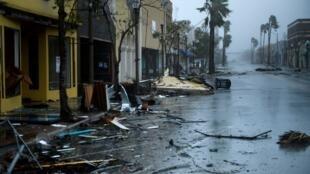 La ville de Panama City, en Floride après le passage de l'ouragan Michael, le 10 octobre 2018.