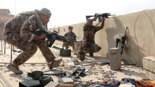Forces spéciales irakiennes combattant dans Mossoul, le 14 novembre 2016.