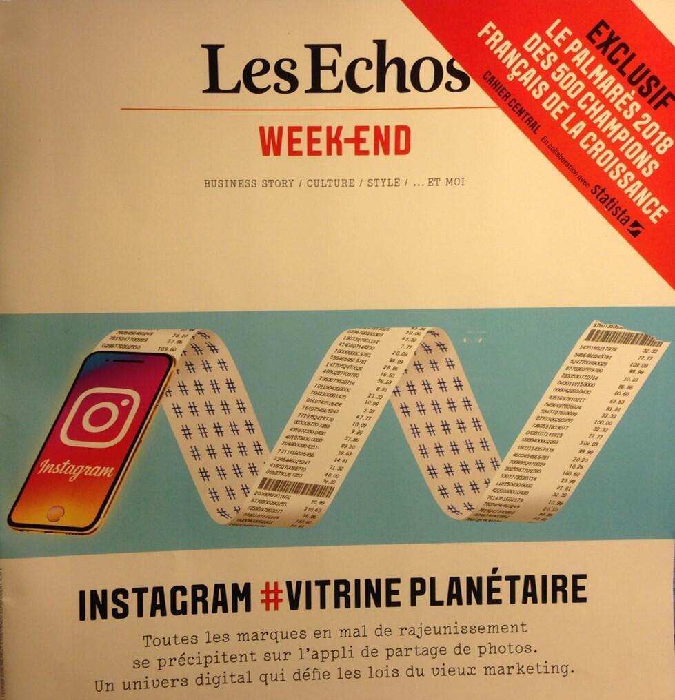Sucesso do Instagram foi tema de capa da revista Week-end do jornal Les Echos