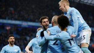 'Yan wasan kungiyar Manchester City