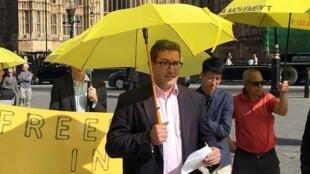 英国保守党人权委员会副主席罗哲斯(Benedict Rogers)在香港,日期不详。