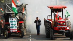 Inde manifestation agriculteurs New Delhi