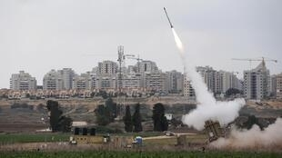 Harin Roka da Hamas ta harba a birnin Ashkelon a Isra'ila