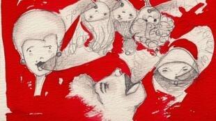 Dessin réalisé à partir de «Ecouter Paris au Laboratoire de la voix» par Silvia Fantini.