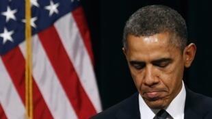 Tổng thống Obama tại Newtown ngày 16/12/2012
