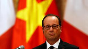 Presidente François Hollande em Hanói neste 6 de Setembro.