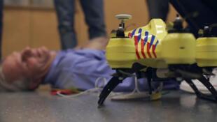 Prototype du drone ambulance qui a séduit les services urgentistes des Pays-Bas.