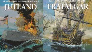 Couvertures de deux des albums de la collection «Les grandes batailles navales», de Jean-Yves Delitte.