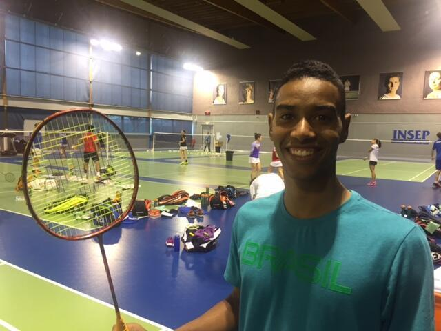 O atleta brasileiro de badminton, Ygor Coelho