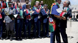 Marcelo Rebelo de Sousa, chefe de Estado português distingue Cristiano Ronaldo com a Ordem de Mérito