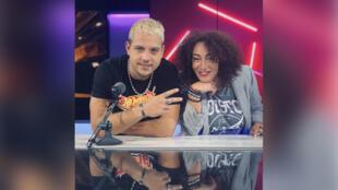 L'artiste PLK avec Juliette Fievet.