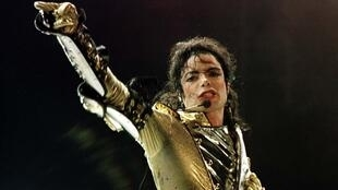 Michael Jackson en concert à Vienne, en Autriche, en 1997.