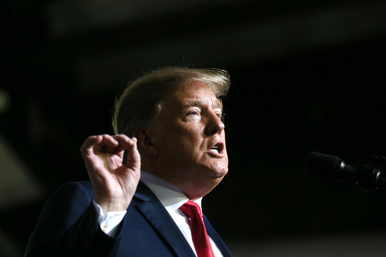 O presidente americano Donald Trump durante uma conferência no Texas, em fevereiro