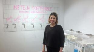 «Yes Future» est un supermarché 100% zéro déchets. On peut tout y acheter en vrac, y compris les produits ménagers, detergents, liquide vaisselle, explique sa co-gérante Olga Rodriguez.