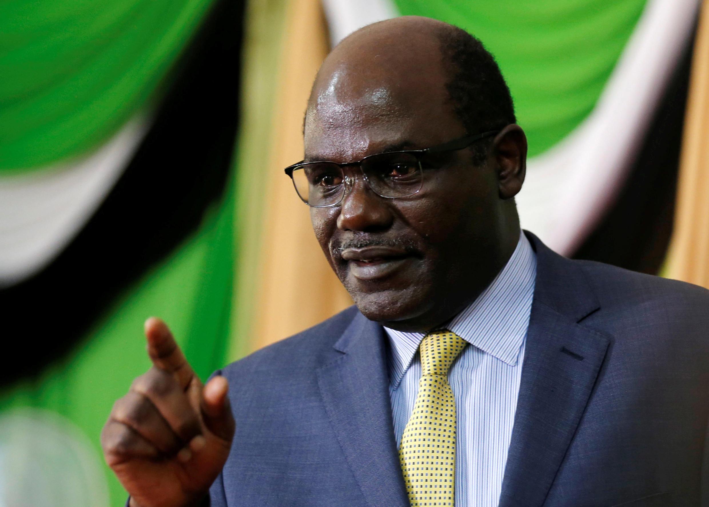 Mwenyekiti wa tume ya uchaguzi nchini Kenya  Wafula Chebukati