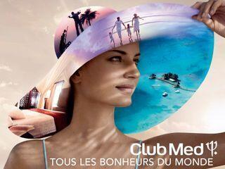 法國度假村地中海俱樂部商業廣告 下方法文'地球上所有的幸福'
