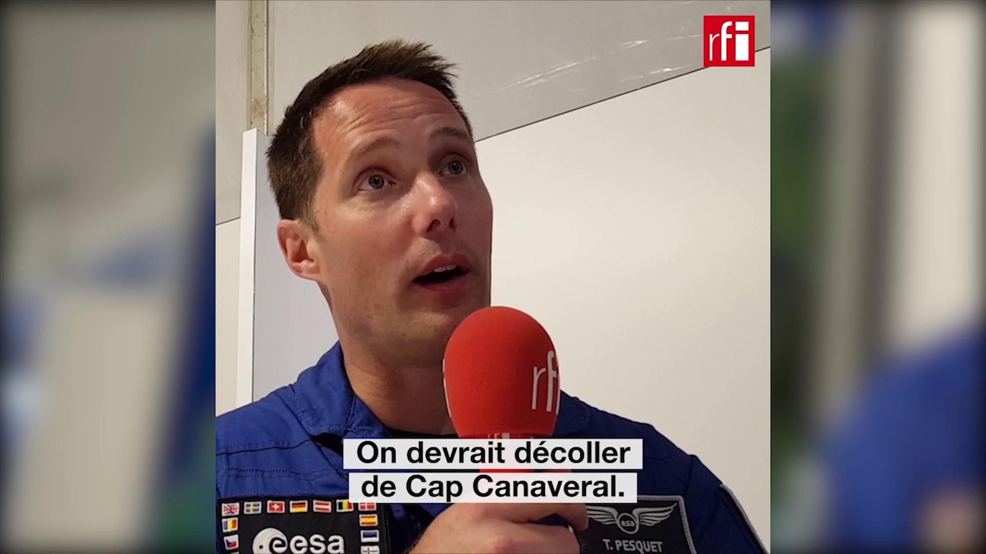 Тома Песке сообщил RFI, что следующая миссия на МКС вылетит с мыса Канаверал. Ле Бурже, июнь 2019.