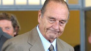 L'ancien président de la République française, Jacques Chirac.