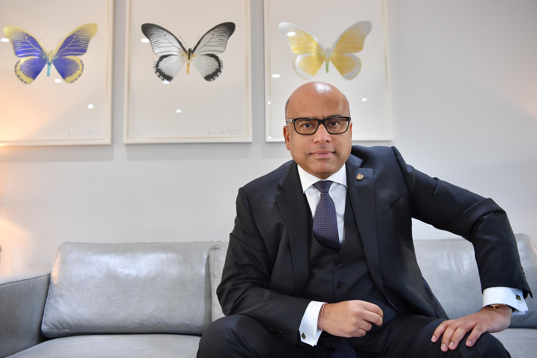 El multimillonario indobritánico Sanjeev Gupta, al frente de GFG (Gupta Family Group), en Londres el 28 de enero de 2019