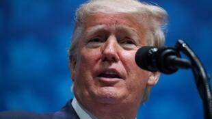 Tổng thống Mỹ Donald Trump phát biểu tại Florida, ngày 07/12/2019.