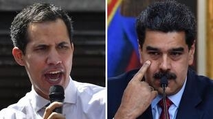Juan Guaidó, Nicolás Maduro, dois presidentes venezuelanos para um só lugar.