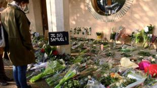 2020-10-22 france samuel paty tribute islamist terrorism