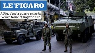A guerra pela disputa do tráfico na Rocinha é tema de uma reportagem na imprensa francesa.