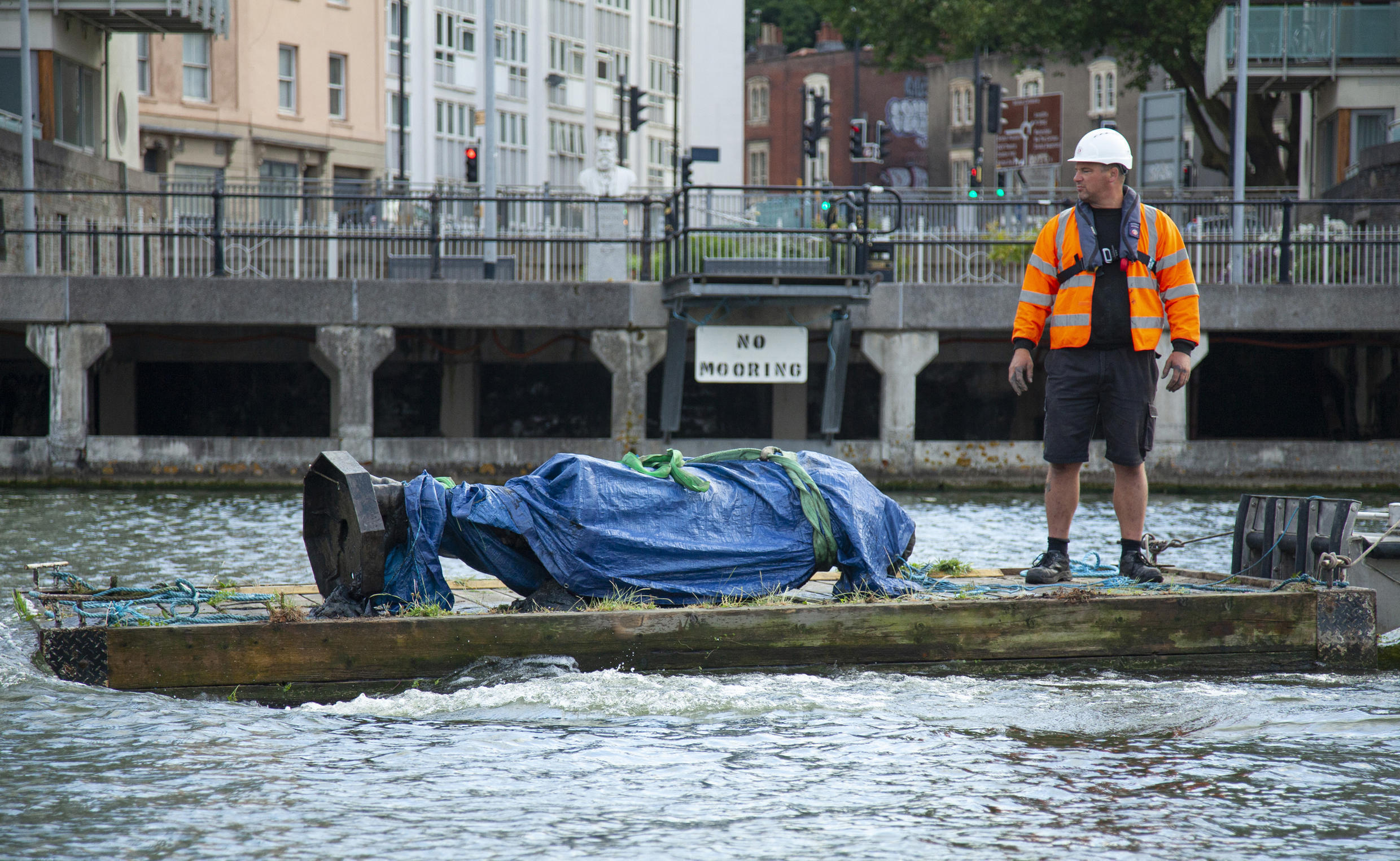 Bristol authorities fished the statue of slave trader and philanthropist Edward Colston out of the local harbour Thursday