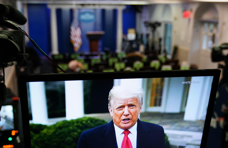 Donald Trump vu à la télévision