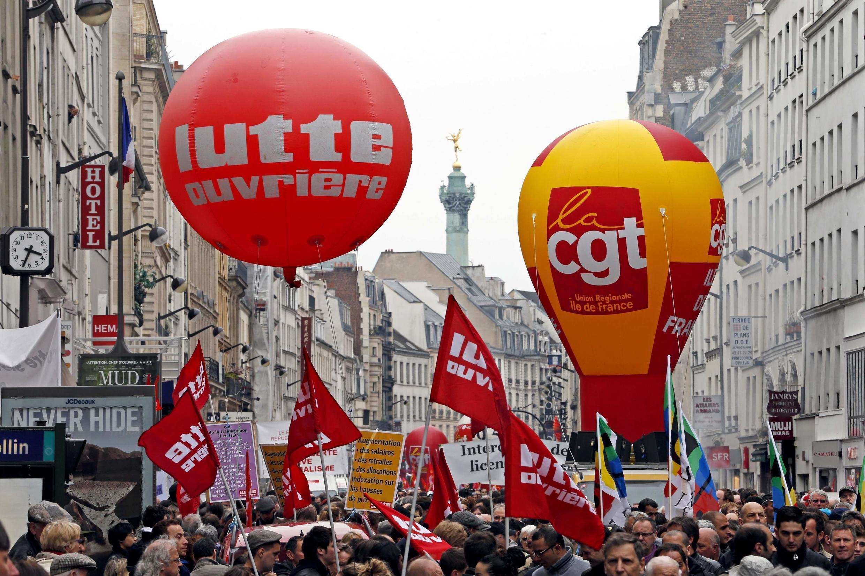 Le cortège parisien du 1er-Mai 2013.