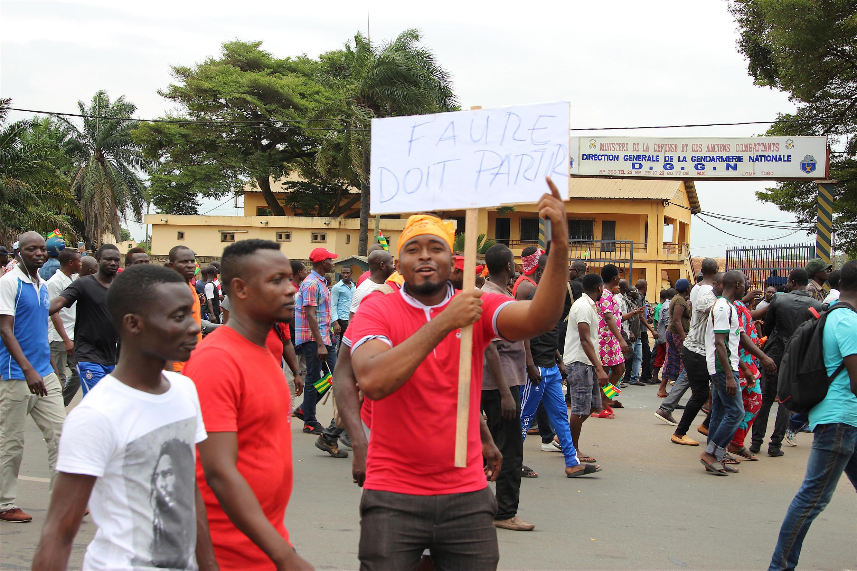 Manifestation à Lomé, Togo, pour demander le départ du président Faure Gnassingbé, le 6 septembre 2017.