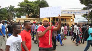Manifestation à Lomé (Togo), pour demander le départ du président Faure Gnassingbe, le 6 septembre 2017.