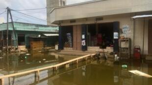 Quartier des Parcelles Assainies particulièrement touché par les inondations, le 18 septembre 2020 à Keur Massar.