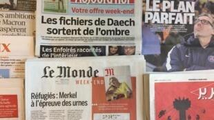 Primeiras páginas dos jornais franceses