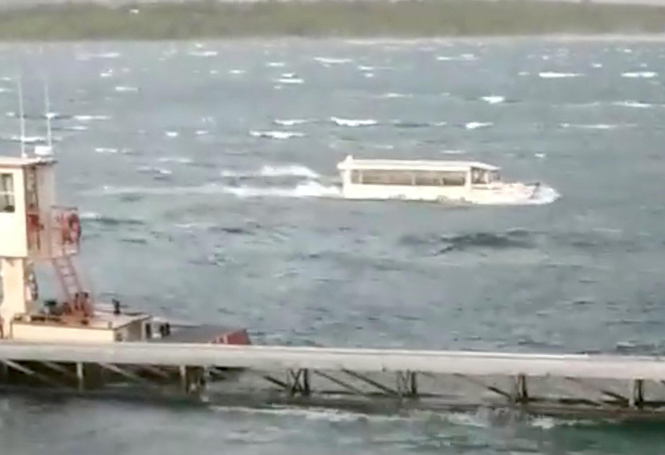 Imagen captada de un video del barco turístico antes del naufragio, el 19 de julio, 2018.