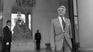 Robert Boulin au Palais de l'Élysée, le 26 septembre 1979, à Paris.