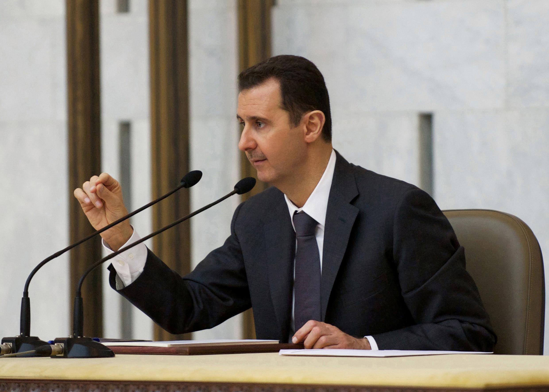 叙利亚总统阿萨德在执政党阿拉伯复兴社会党大会上