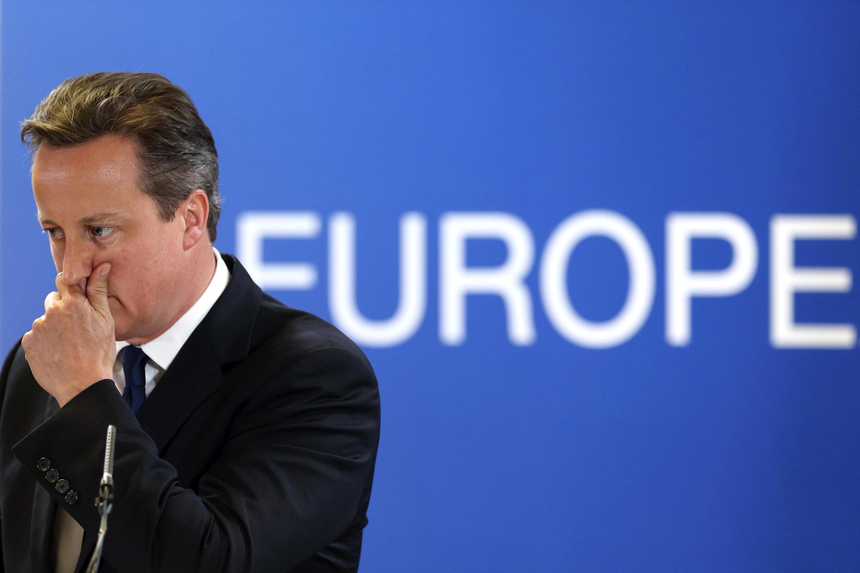 Дэвид Кэмерон на саммите лидеров Евросоюза в Брюсселе 27/06/2014