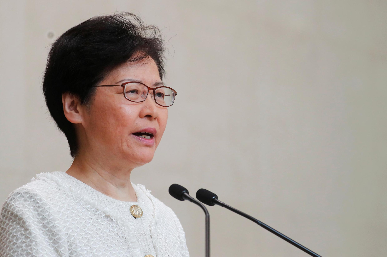 A chefe do executivo de Hong Kong, Carrie Lam, em coletiva de imprensa em Hong Kong, China, nesta terça-feira, 10 de Setembro de 2019.
