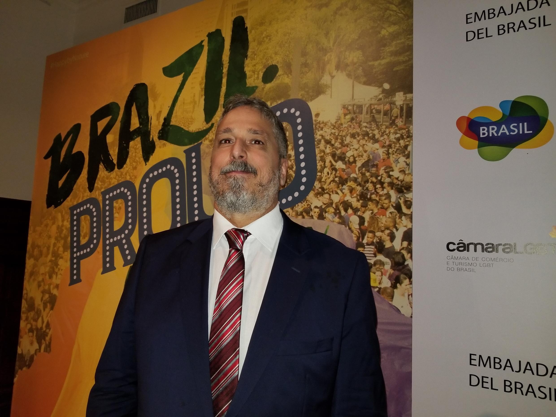 O presidente da Câmara de Comércio Gay Lésbica Argentina, Pablo De Luca.