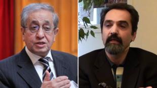 مهران مصطفوی و حسن شریعتمداری از فعالان سیاسی ایران.