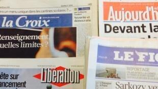 Primeiras páginas dos diários franceses de 18/03/2015