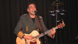 Manuel García en un concierto previo a la Fête de L'Humanité en París, este 14 de septiembre de 2013.